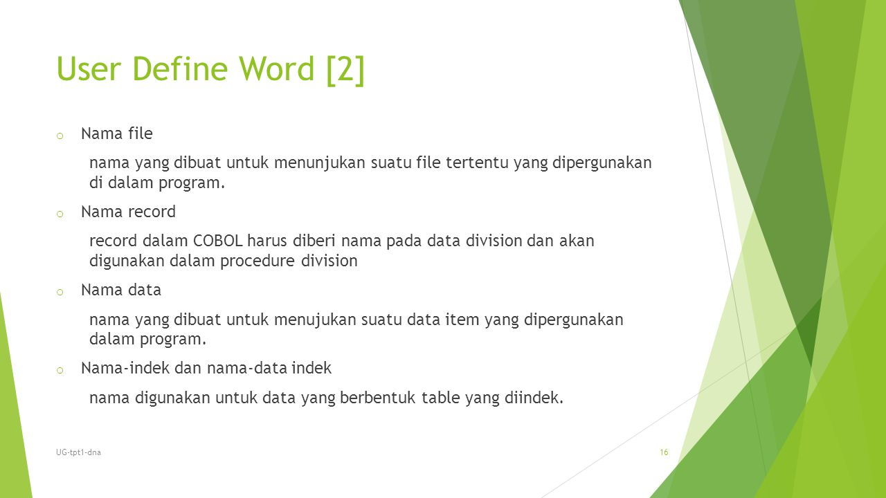 User Define Word [2] Nama file
